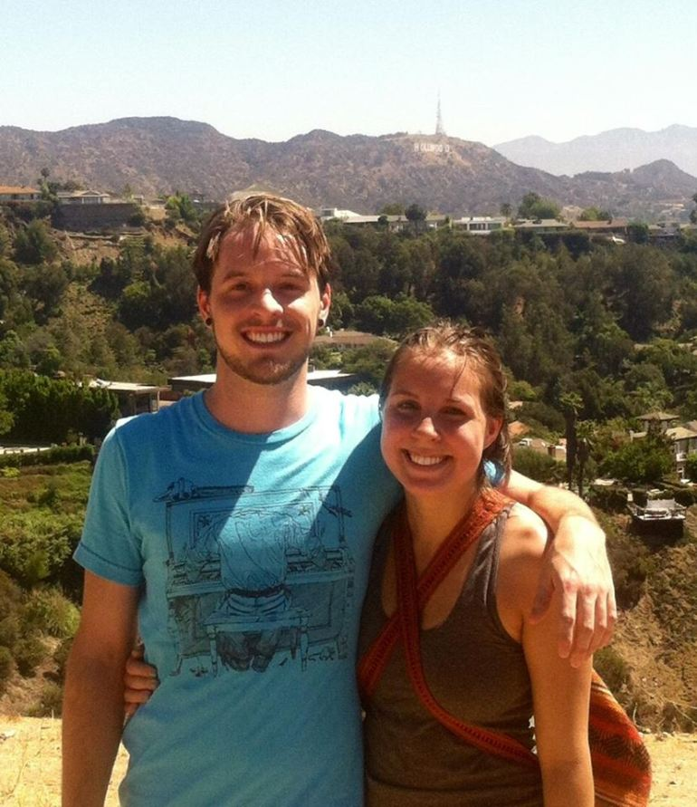 We spent the summer in Hollywood, California! Colson had an internship doing audio for feature films. It was a crazy experience! In this pic, my brother Eric and I have just hiked up Runyon Canyon.