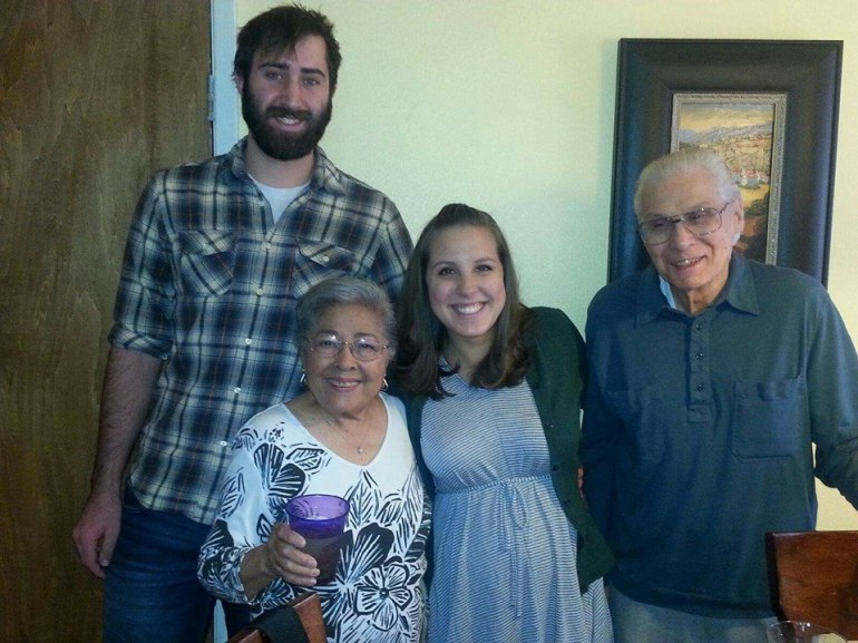 We spent Thanksgiving in New Mexico with my family. Here we are with my dad's parents, right after announcing the baby's gender!