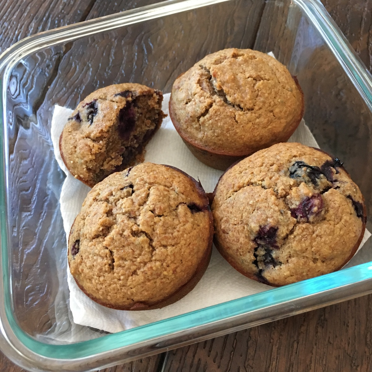 Healthy Blueberry Muffins (using almond pulp from homemade almond milk)